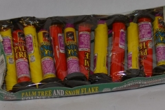 Novelty Fireworks - Palm Tree and Snow Flake Fountain Assorted (1)