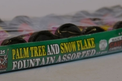 Novelty Fireworks - Palm Tree and Snow Flake Fountain Assorted (2)